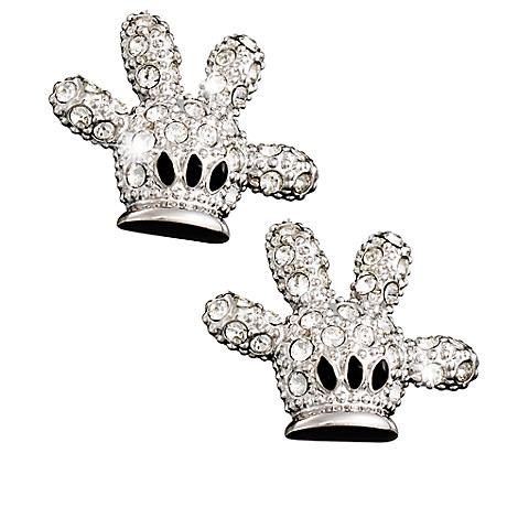 Mickey Mouse Glove Earrings by Arribas