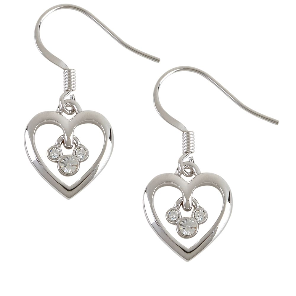 Mickey Mouse Heart French Back Earrings by Arribas
