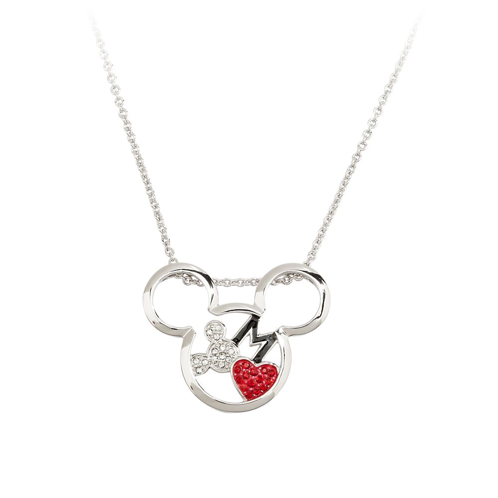 Mickey Mouse Necklace by Arribas  Mickey Head with Heart Official shopDisney