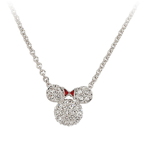 Minnie Mouse Icon Necklace by Arribas - Domed