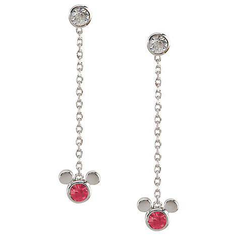Mickey Mouse Magenta Icon Earrings by Arribas