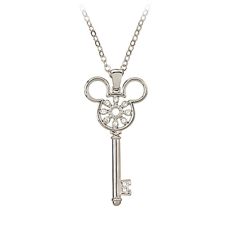 Mickey Mouse Icon Key Necklace by Arribas