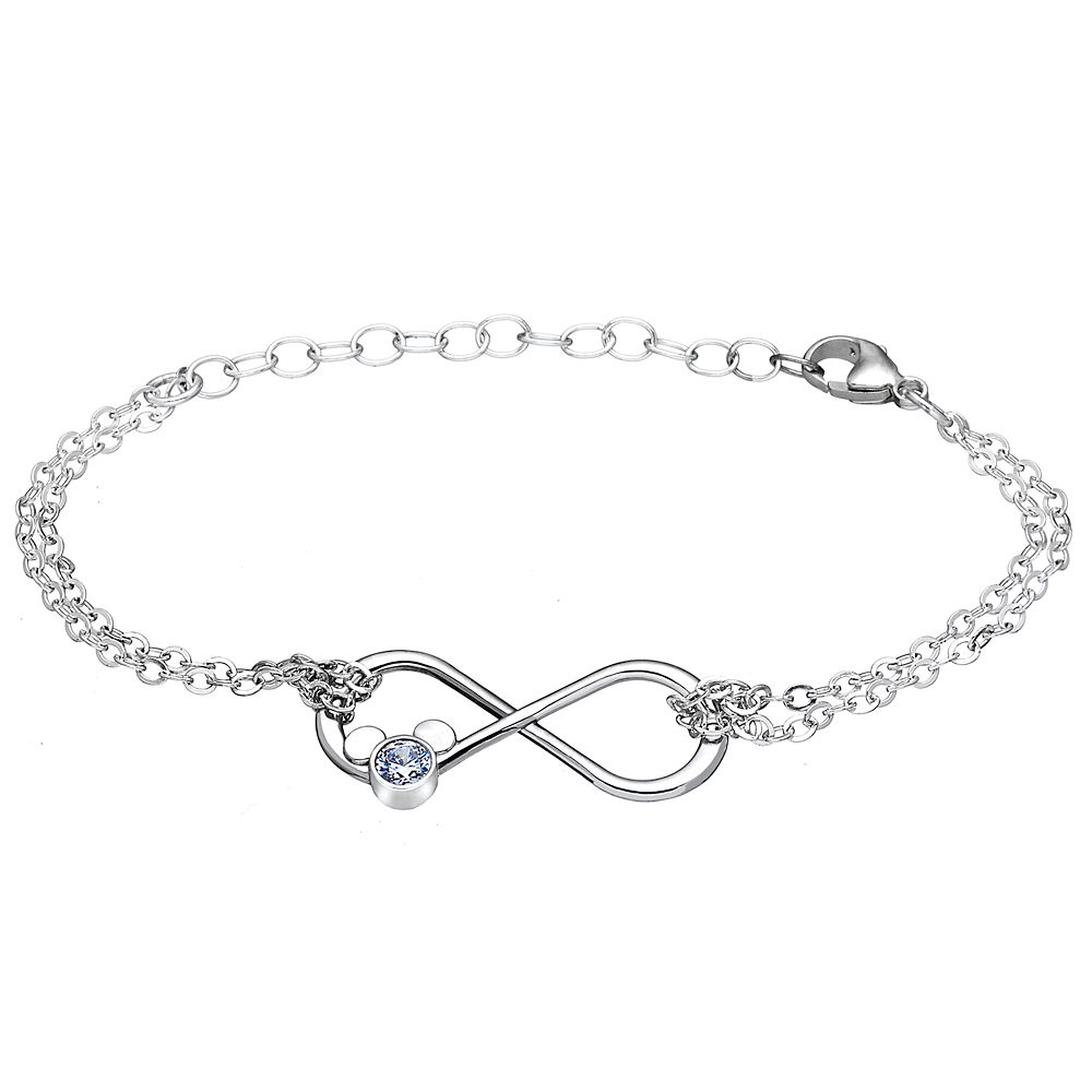 Mickey Mouse Infinity Loop Bracelet by Arribas Brothers