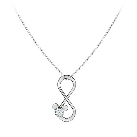 Mickey Mouse Infinity Loop Necklace by Arribas Brothers