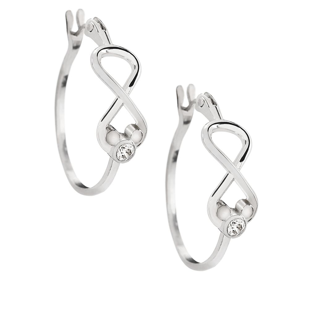 Mickey Mouse Infinity Hoop Earrings by Arribas Brothers Official shopDisney
