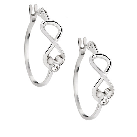 Mickey Mouse Infinity Hoop Earrings by Arribas Brothers