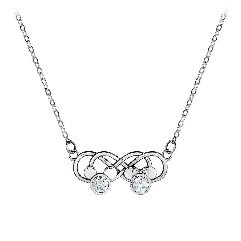 Mickey and Minnie Mouse Infinity Necklace by Arribas Brothers Official shopDisney
