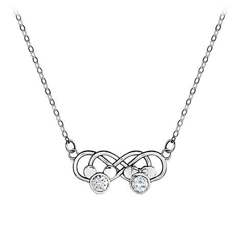 Mickey and Minnie Mouse Infinity Necklace by Arribas Brothers