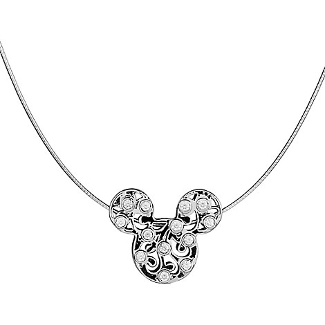 Mickey Mouse Filigree 3D Icon Necklace by Arribas Brothers