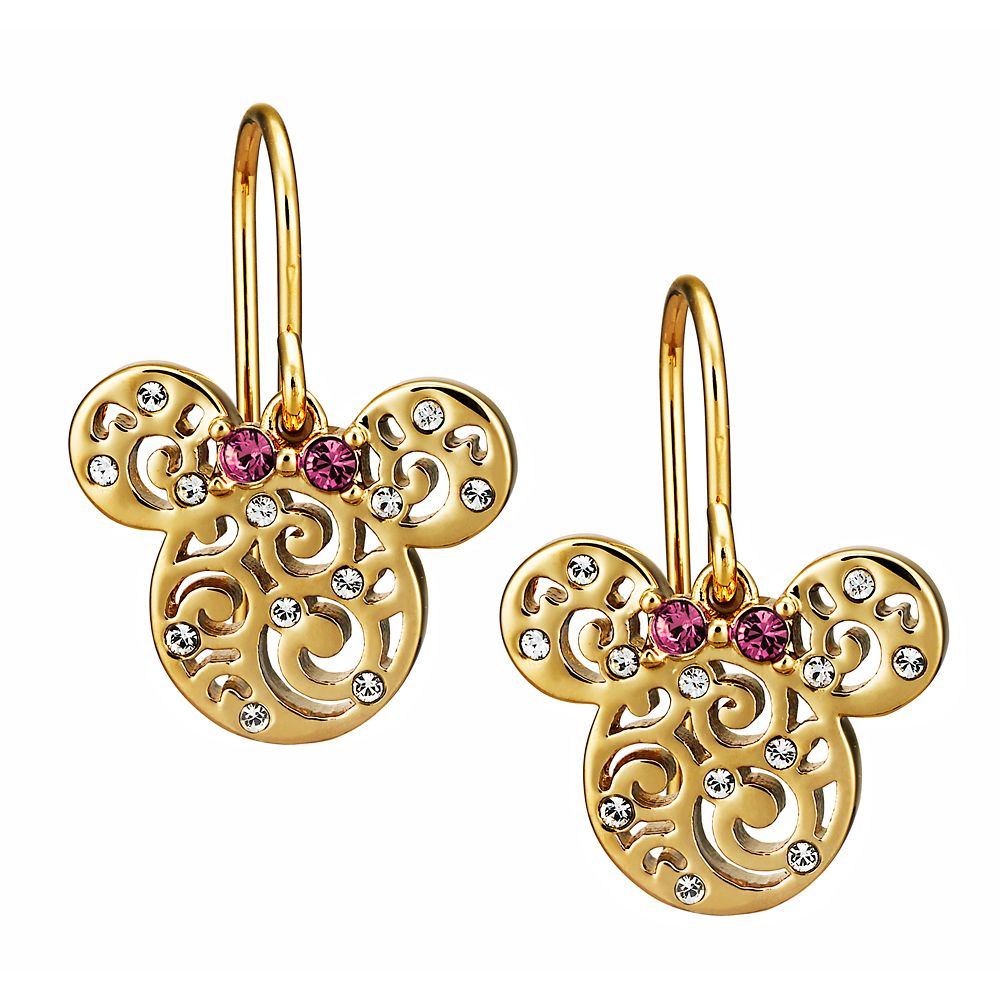 Minnie Mouse Filigree Icon Earrings by Arribas – Gold