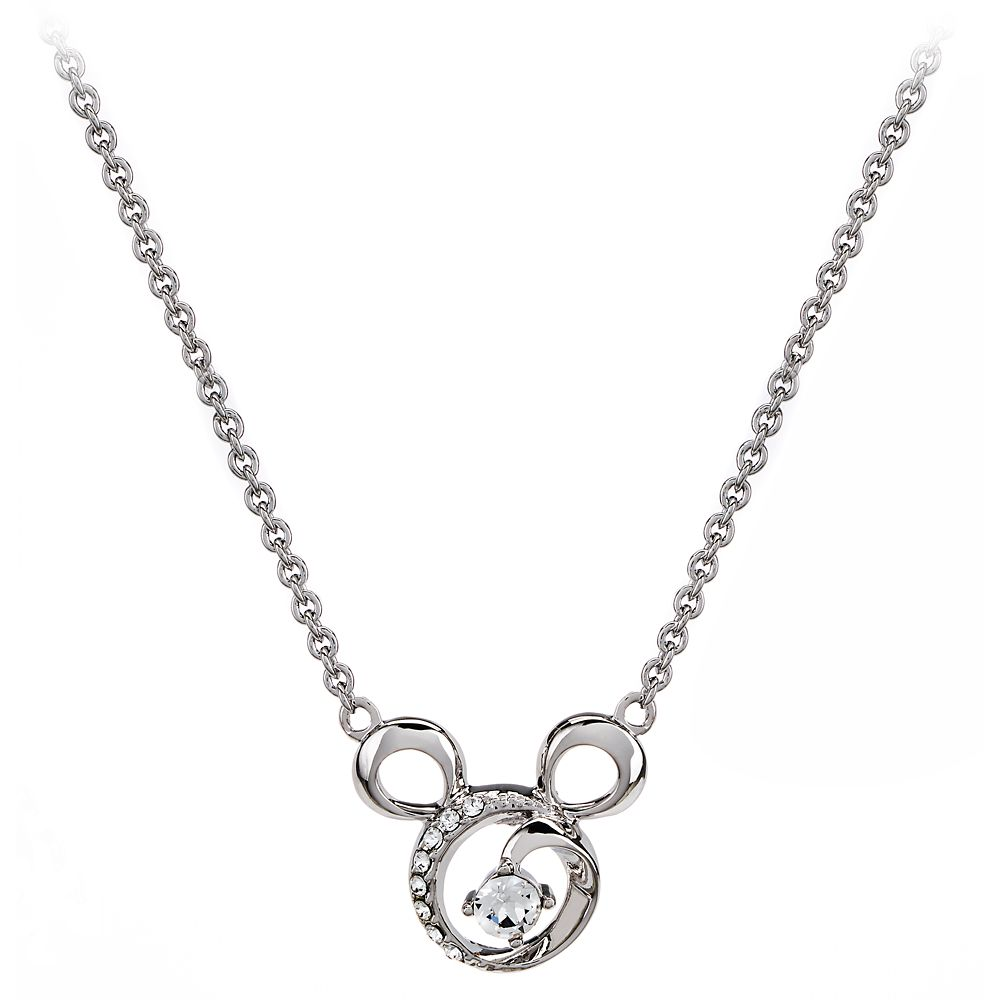 Mickey Mouse Icon Swirl Necklace by Arribas