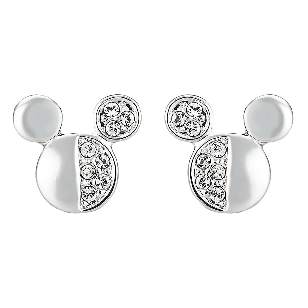 Mickey Mouse Halved Icon Earrings by Arribas