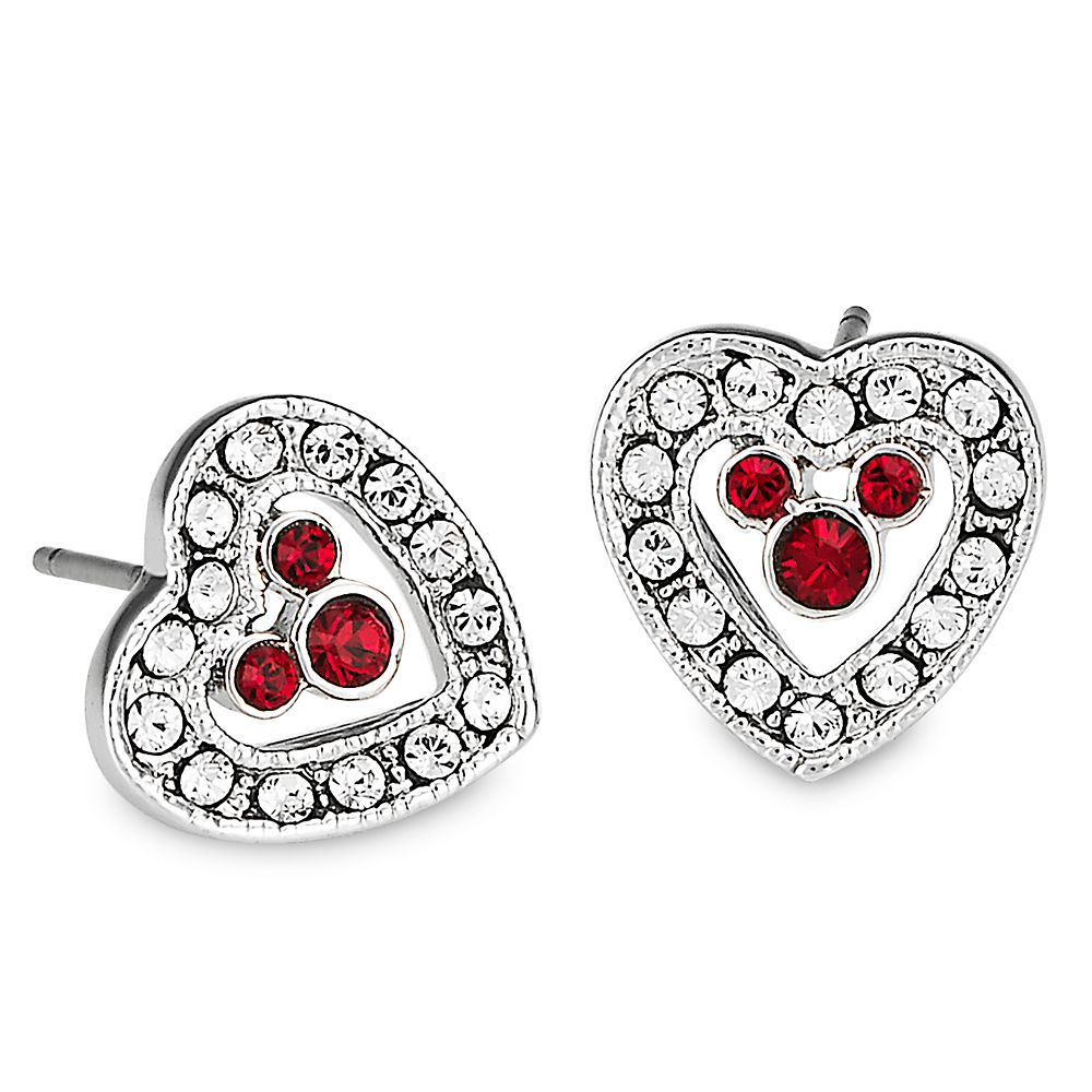 Mickey Mouse Heart Earrings by Arribas Official shopDisney