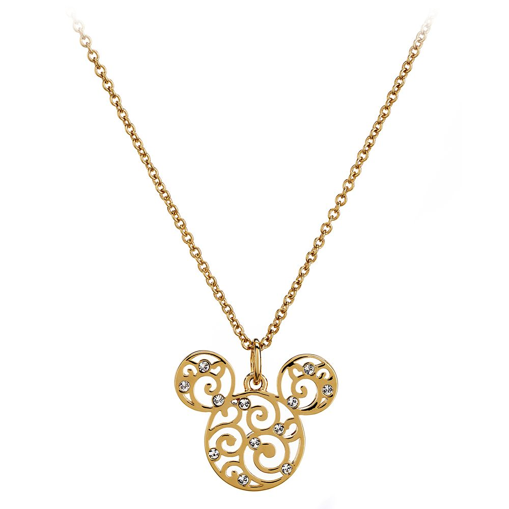 Mickey Mouse Filigree Icon Necklace by Arribas