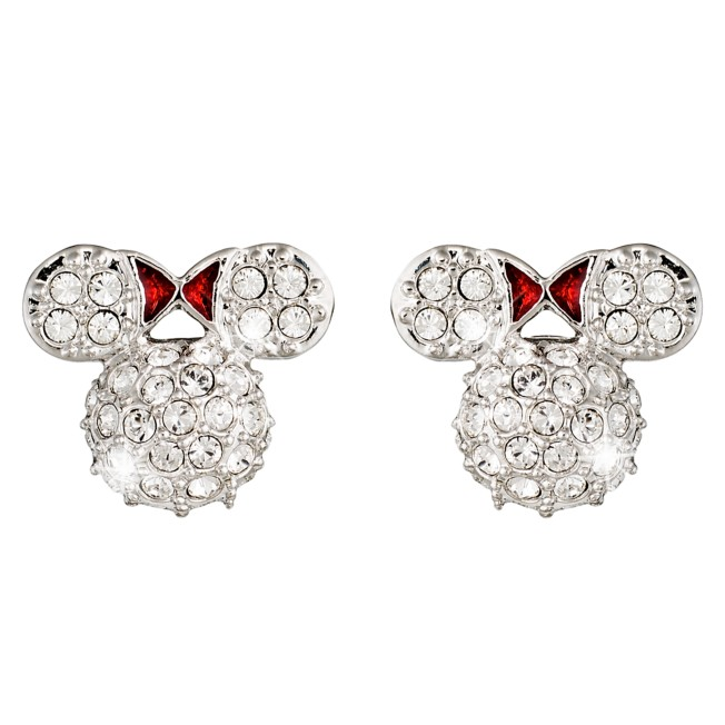 Minnie Mouse Icon Earrings by Arribas – Domed