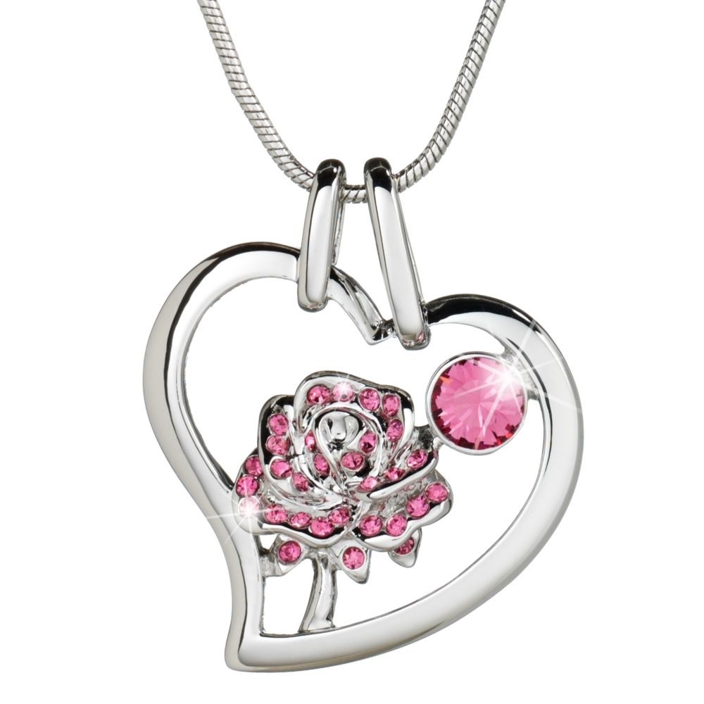 Belle Crystal Rose Necklace by Arribas