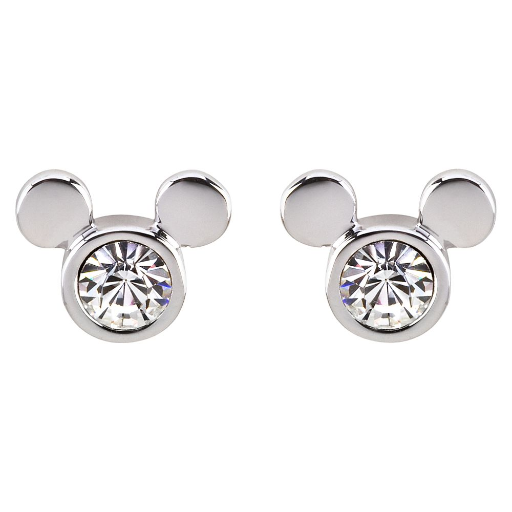 Mickey Mouse Icon Crystal Earrings by Arribas – Clear