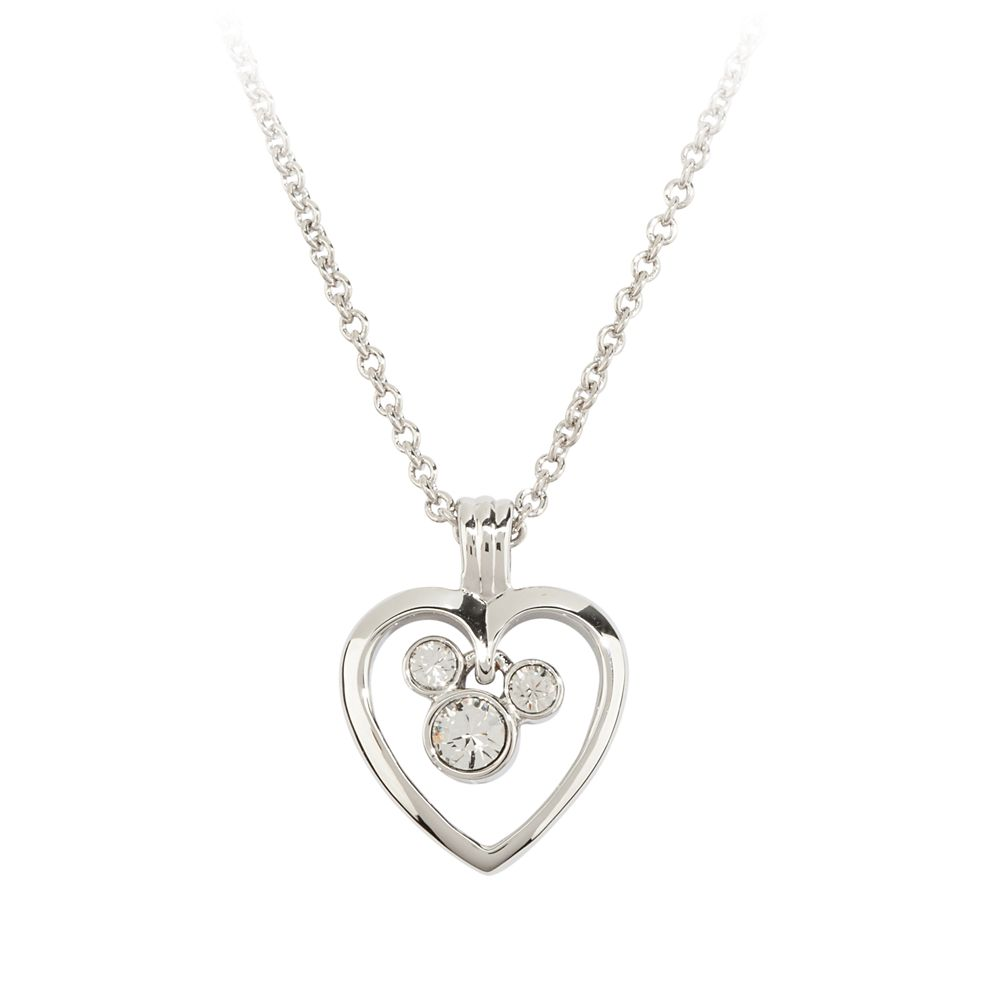Mickey Mouse Icon in Heart Necklace by Arribas
