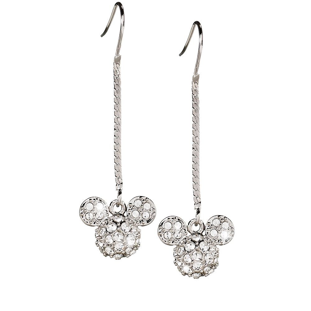 Mickey Mouse Icon Herringbone Chain Earrings by Arribas