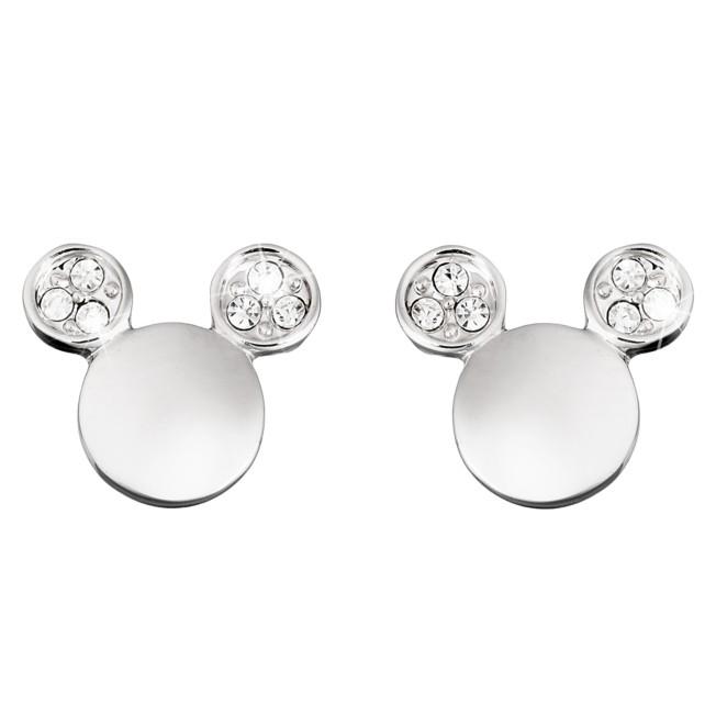 Mickey Mouse Icon Crystal Ear Earrings by Arribas