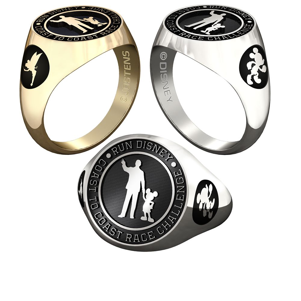 Mickey Mouse and Tinker Bell runDisney Ring for Women by Jostens – Personalizable