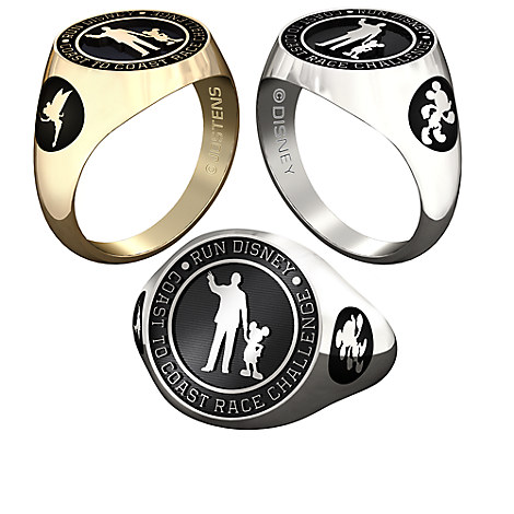 Mickey Mouse and Tinker Bell RunDisney Ring for Women by Jostens - Personalizable