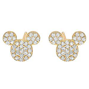 Mickey Mouse Icon Stud Earrings by CRISLU