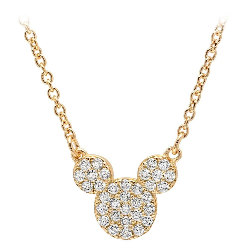 Mickey Mouse Icon Necklace by CRISLU – Yellow Gold