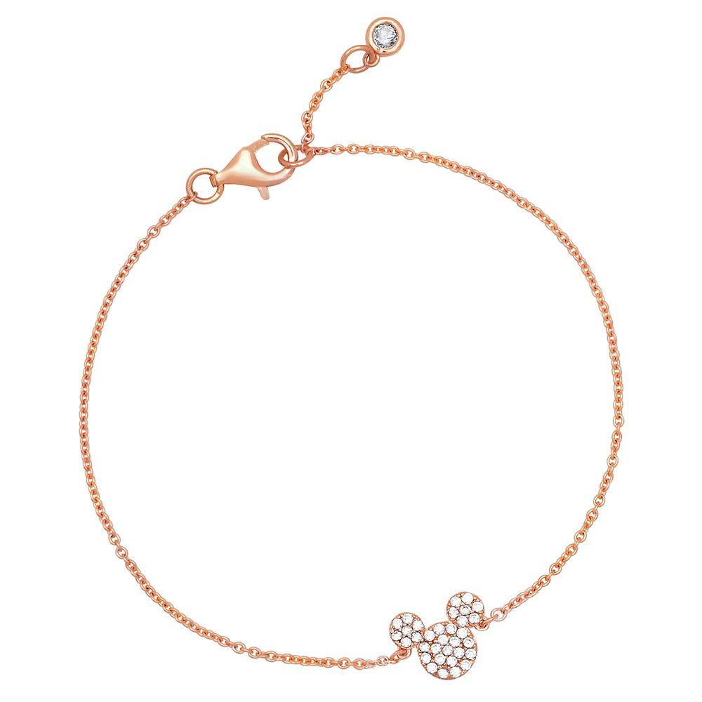 Mickey Mouse Icon Bracelet by CRISLU – Rose Gold