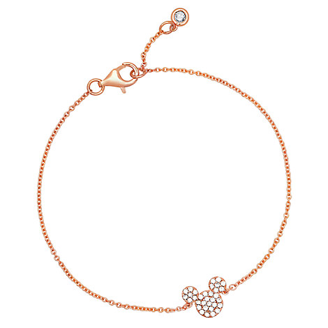 Mickey Mouse Icon Bracelet by CRISLU - Rose Gold