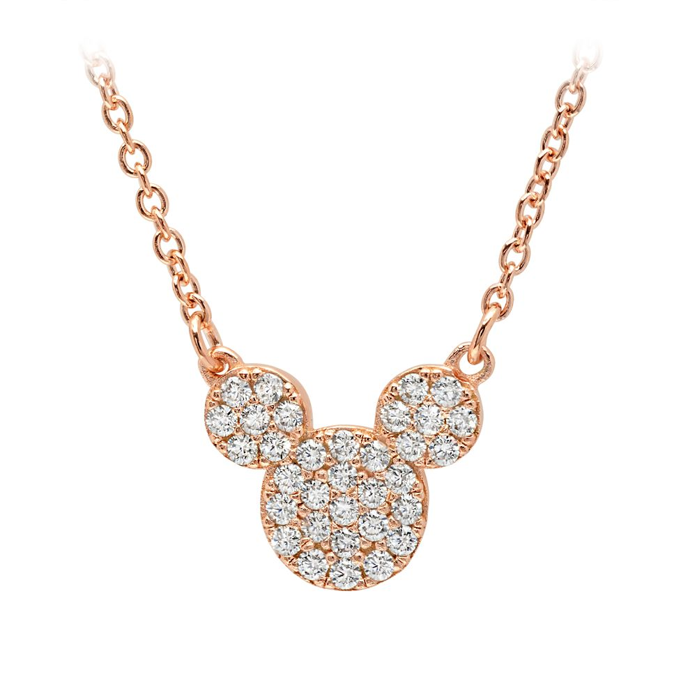 Mickey Mouse Icon Necklace by CRISLU  Rose Gold Official shopDisney