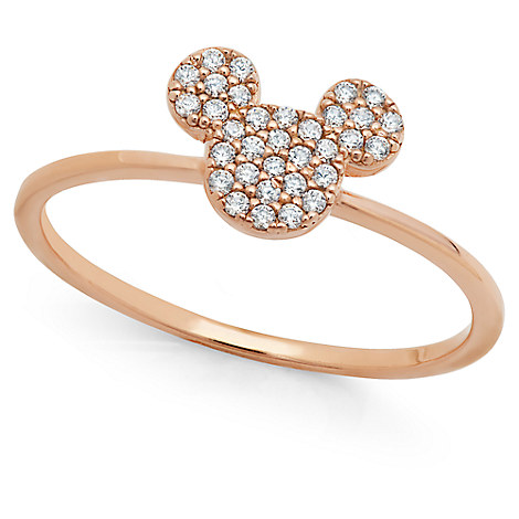 Mickey Mouse Icon Ring by CRISLU - Rose Gold