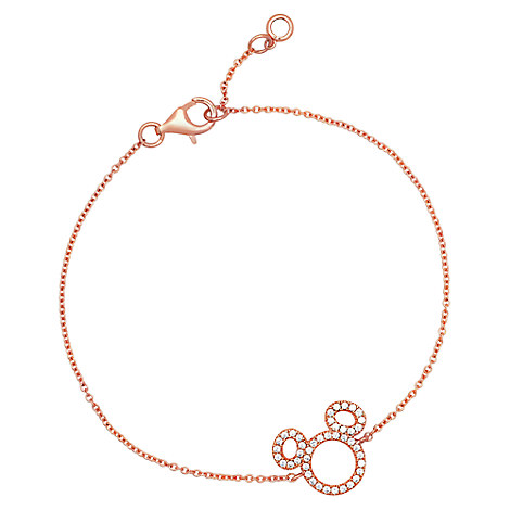 Mickey Mouse Icon Silhouette Bracelet by CRISLU - Rose Gold