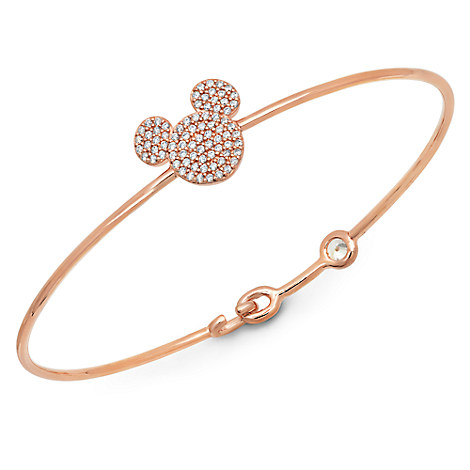 Mickey Mouse Icon Bangle by CRISLU - Rose Gold