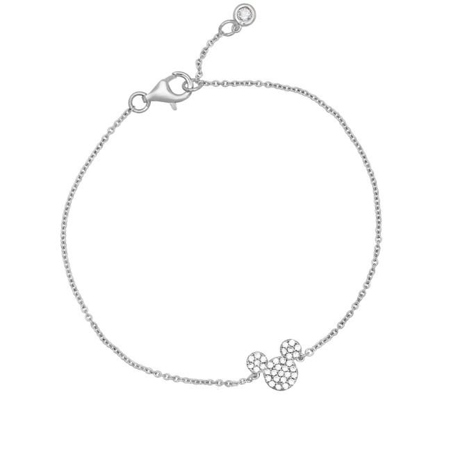 Mickey Mouse Icon Bracelet by CRISLU – Platinum