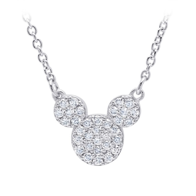 Mickey Mouse Icon Necklace by CRISLU – Platinum