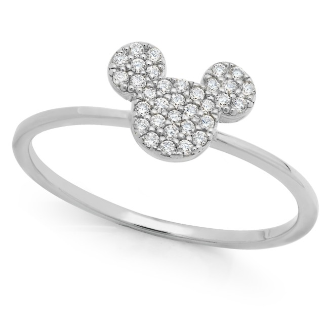 Mickey Mouse Icon Ring by CRISLU – Platinum