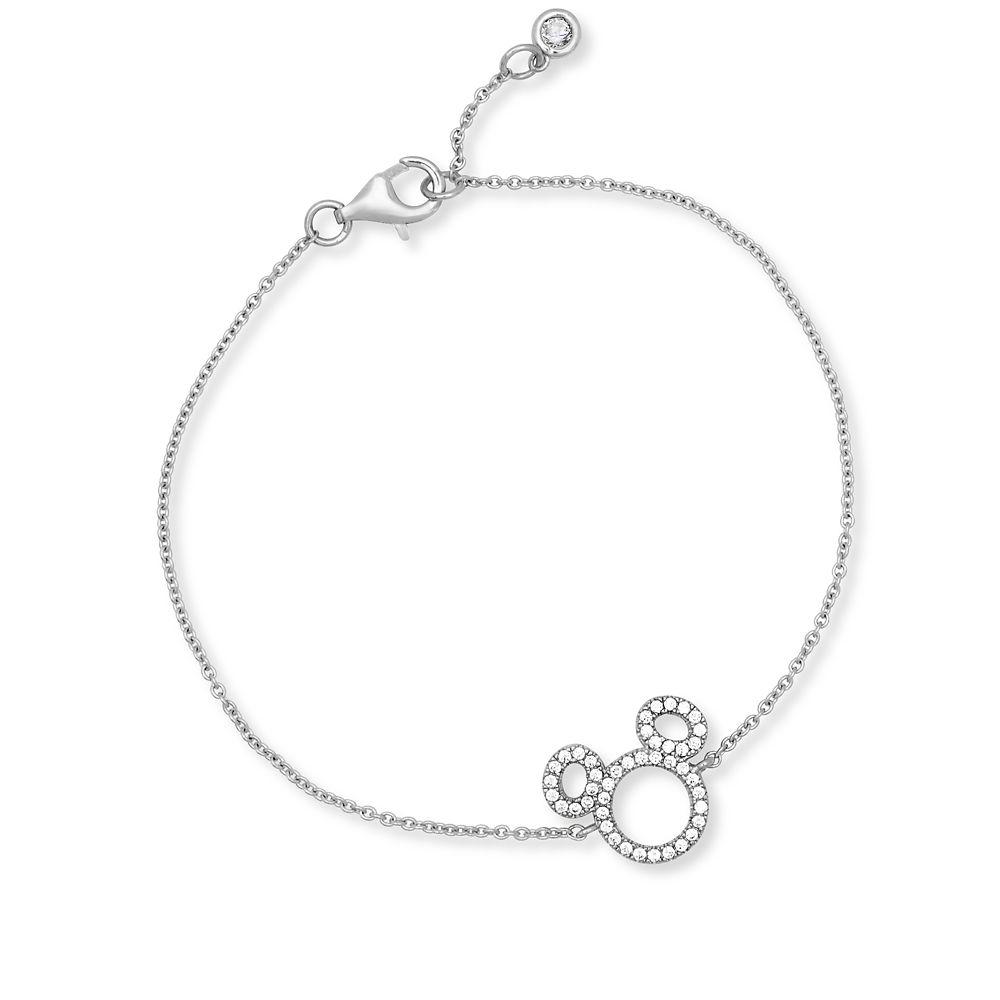 Mickey Mouse Icon Silhouette Bracelet by CRISLU  Platinum Official shopDisney