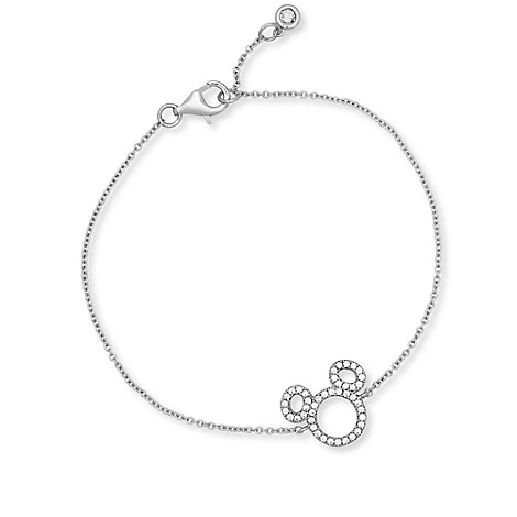 Mickey Mouse Icon Silhouette Bracelet by CRISLU - Platinum