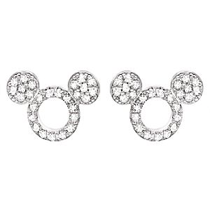 Mickey Mouse Icon Silhouette Stud Earrings by