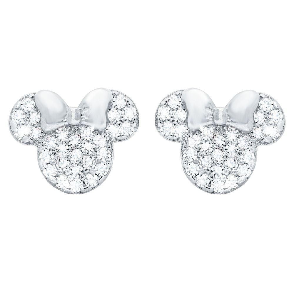 Minnie Mouse Icon Stud Earrings by CRISLU