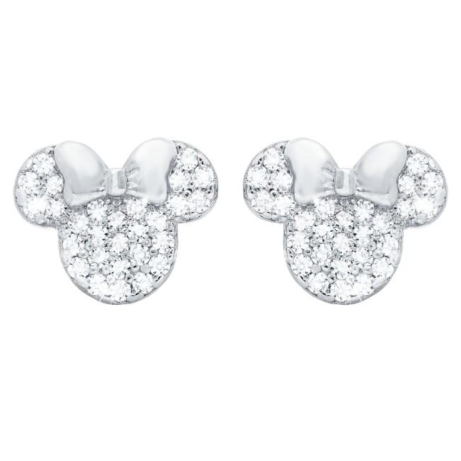 Minnie Mouse Icon Stud Earrings by CRISLU