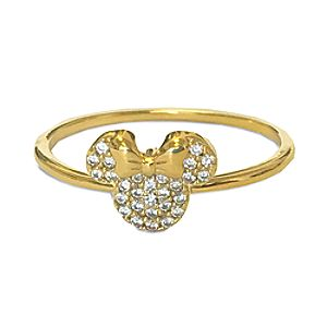 Minnie Mouse Icon Ring by CRISLU - Gold