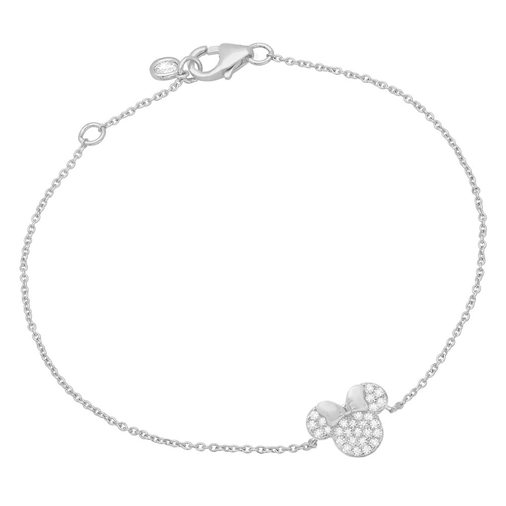 Minnie Mouse Icon Bracelet by CRISLU – Platinum