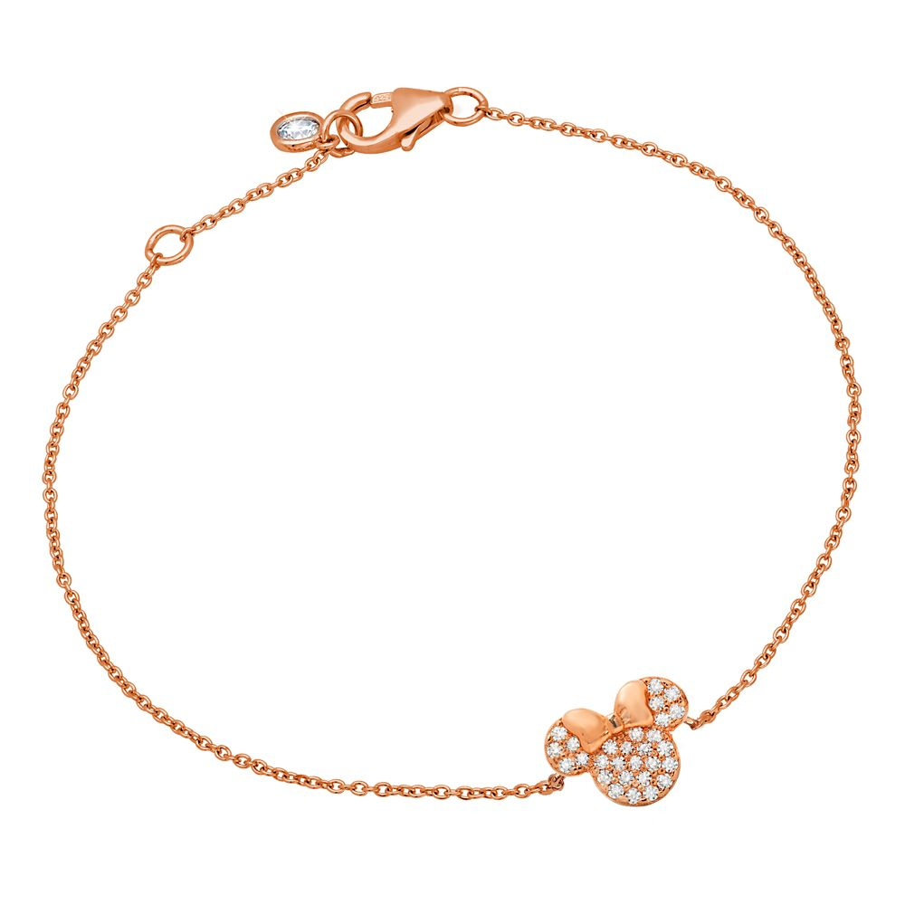 Minnie Mouse Icon Bracelet by CRISLU – Rose Gold
