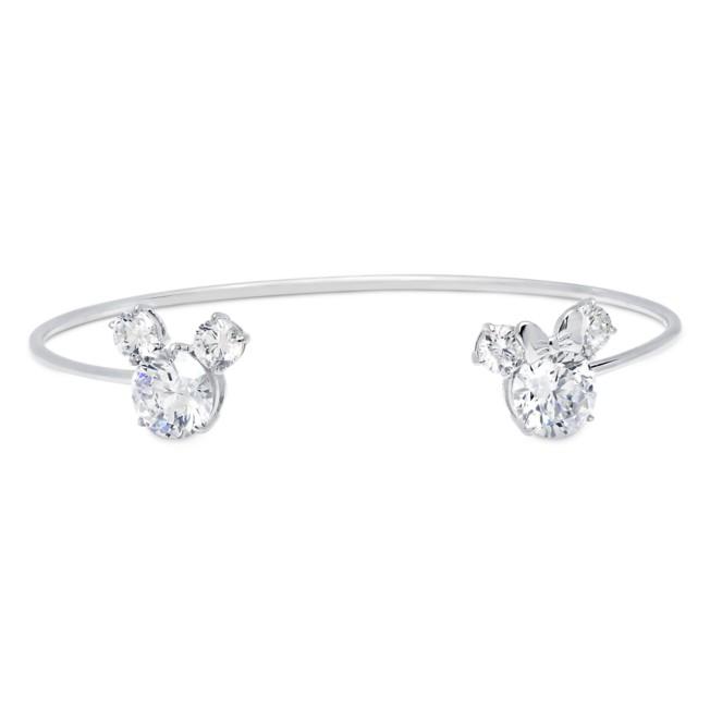 Mickey and Minnie Mouse Cuff Bracelet by CRISLU – Platinum
