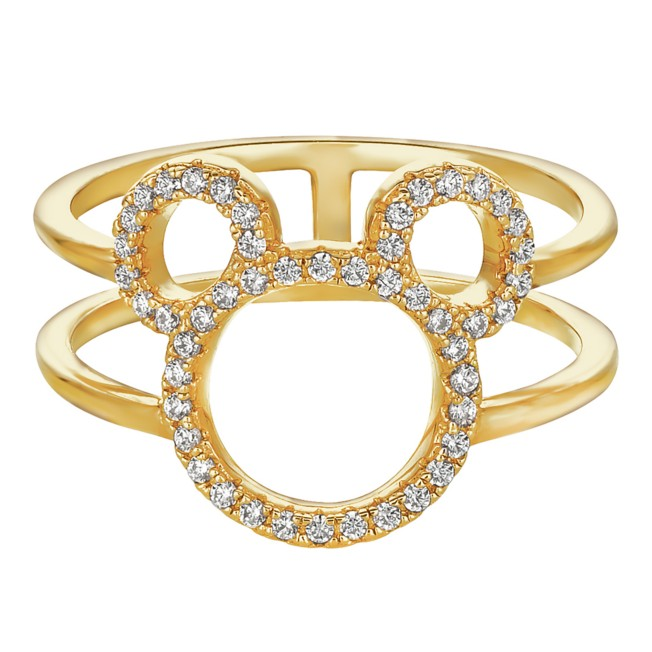 Mickey Mouse Open Icon Ring by CRISLU – Gold
