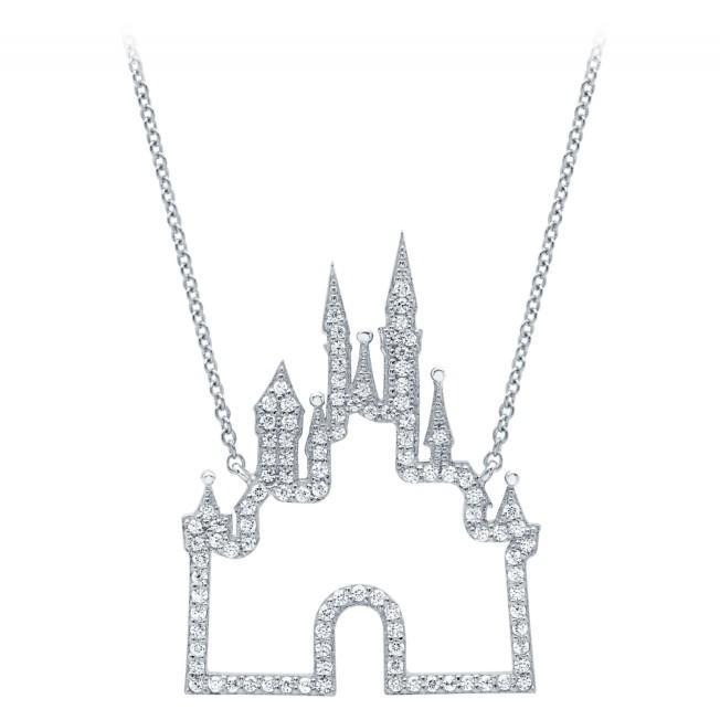 Fantasyland Castle Necklace by CRISLU – Platinum