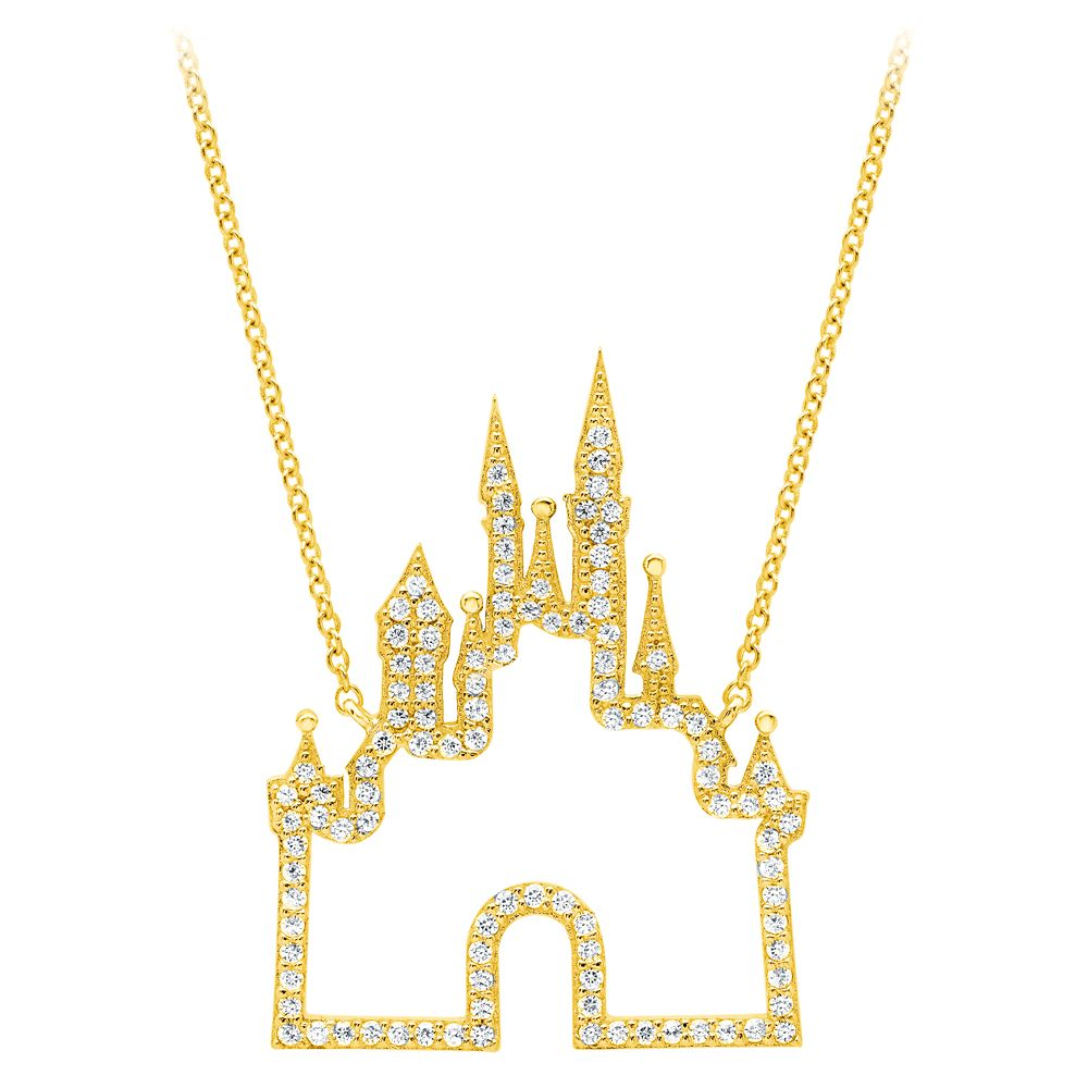Fantasyland Castle Necklace by CRISLU – Gold