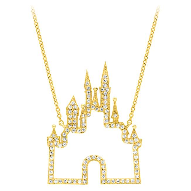 Fantasyland Castle Necklace by CRISLU – Gold